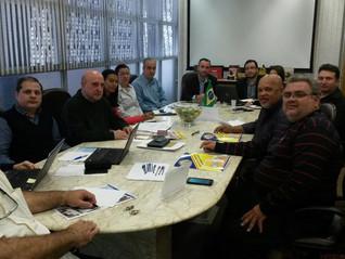 Reunião com os patrões do setor de cacau e balas