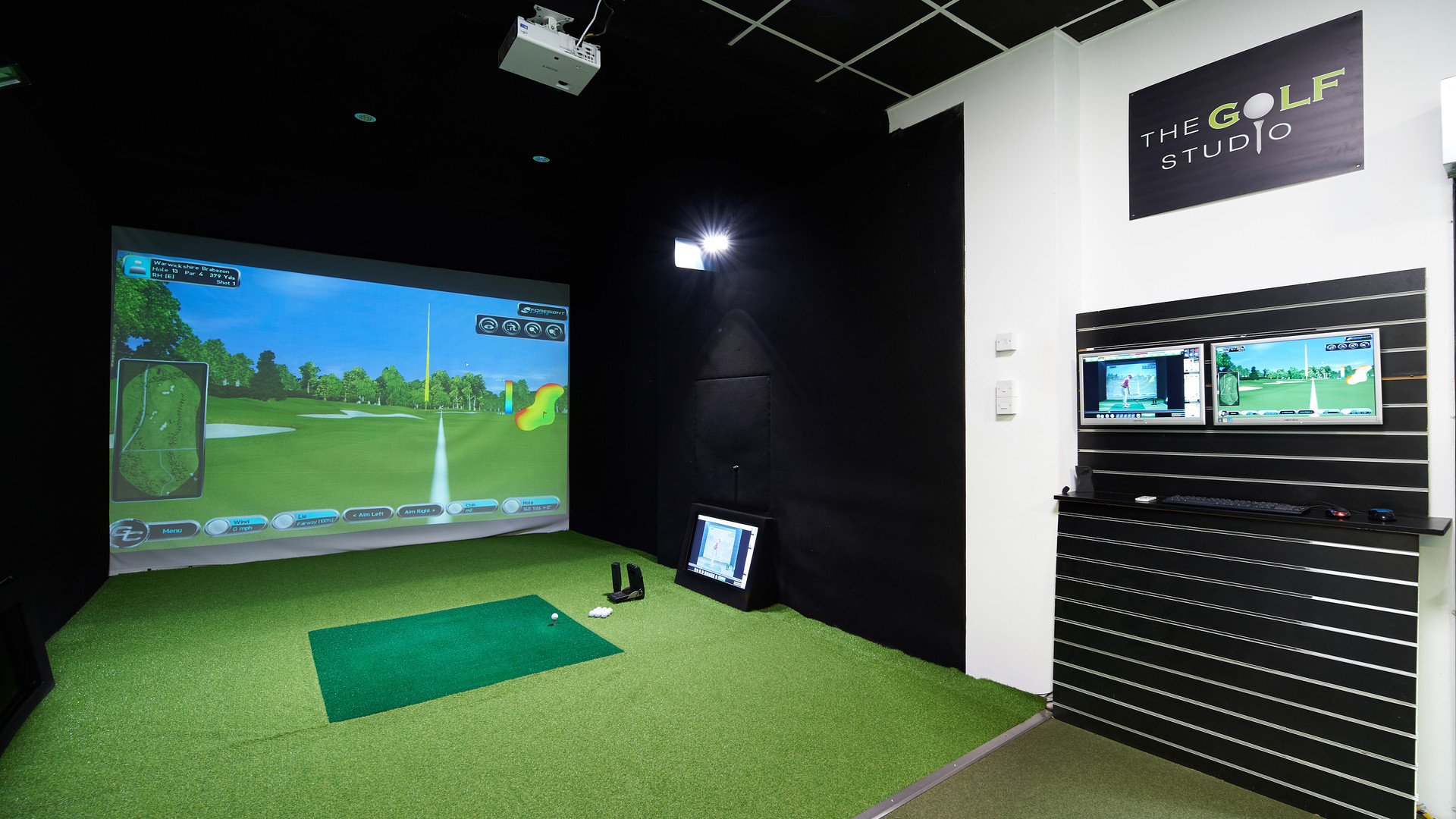 The Golf Studio set up for coaching