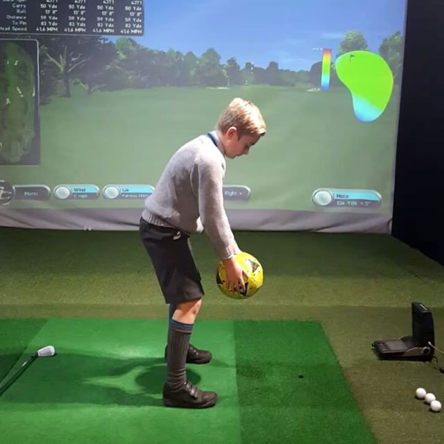 We have various 'props' to achieve the correct feel in the swing