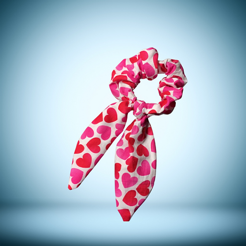 Hearts - scrunchie