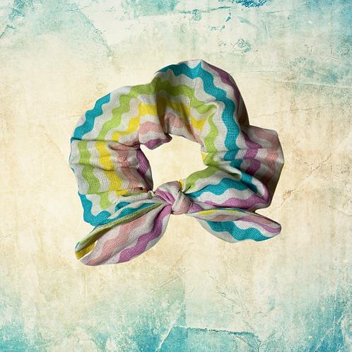 Spring Stripes - scrunchie