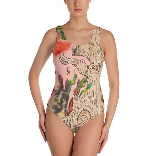 'Glitch' One-Piece Swimsuit