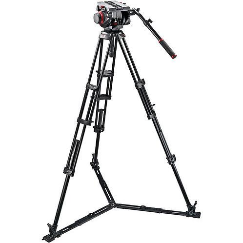 Tripie Manfrotto 545GB Ground-Twin Kit con cabezal de video 509 HD