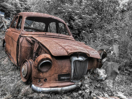 Images of rusty old cars, is it really art?