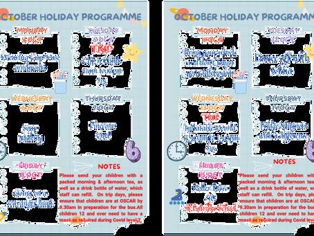 Final October Holiday Activities