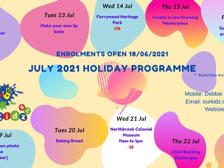2021 July Holidays