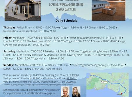 Yoga Retreat 12.-15. nóv -með Alice og Ingu