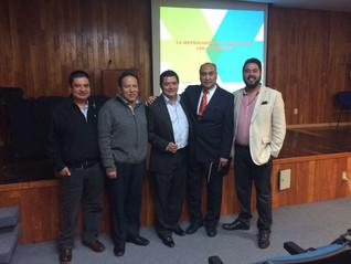 Presentes en la Conferecia de la ASM  La Metrología en la Ciencia de los Materiales