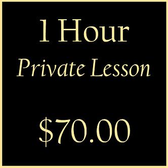 1 Hour Private Lesson