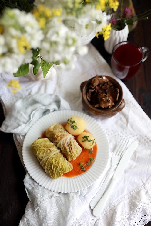 Gołąbki z mięsem z indyka