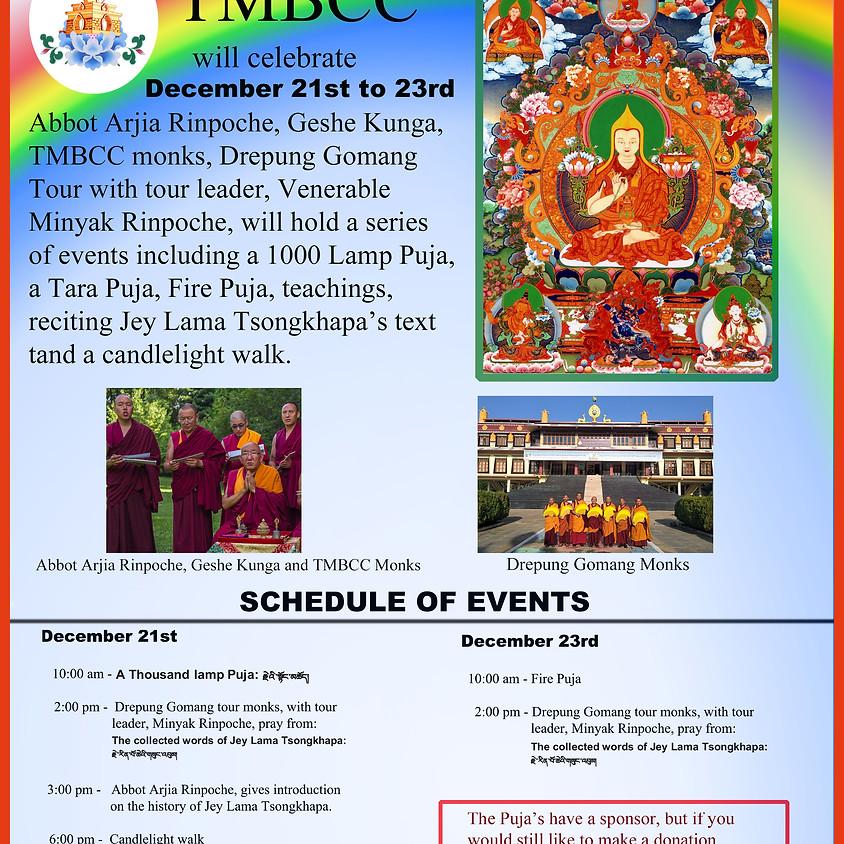 600th Anniversary of Jey Lama Tsongkhapa's Parinirvana