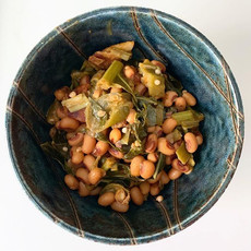 Black eyed peas and collard greens for l