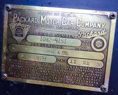 Packard 120 1937 detail