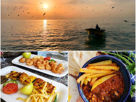 Bushehr - Town of Gheliyeh, Fish Kababs and Dates