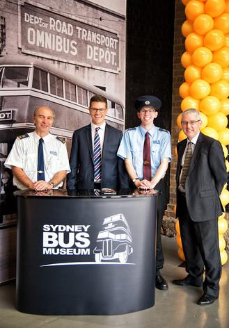 SBM volunteers with Transport Heritage NSW CEO, Andrew Moritz