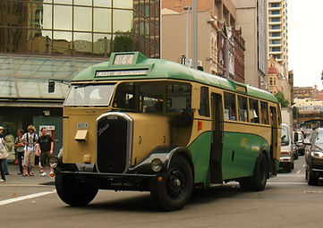 Dennis 1492 on Hay St as part of the Australia Day Vintage Bus Service 2009. (John Ward photograph)
