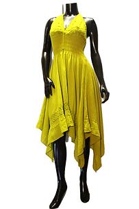 Avocado Halter Dress