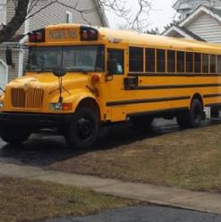School Bus Conversion Before