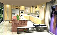 Projeto de cozinha gourmet