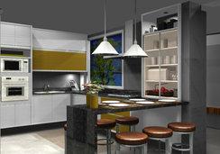 Cozinha funcional para a família