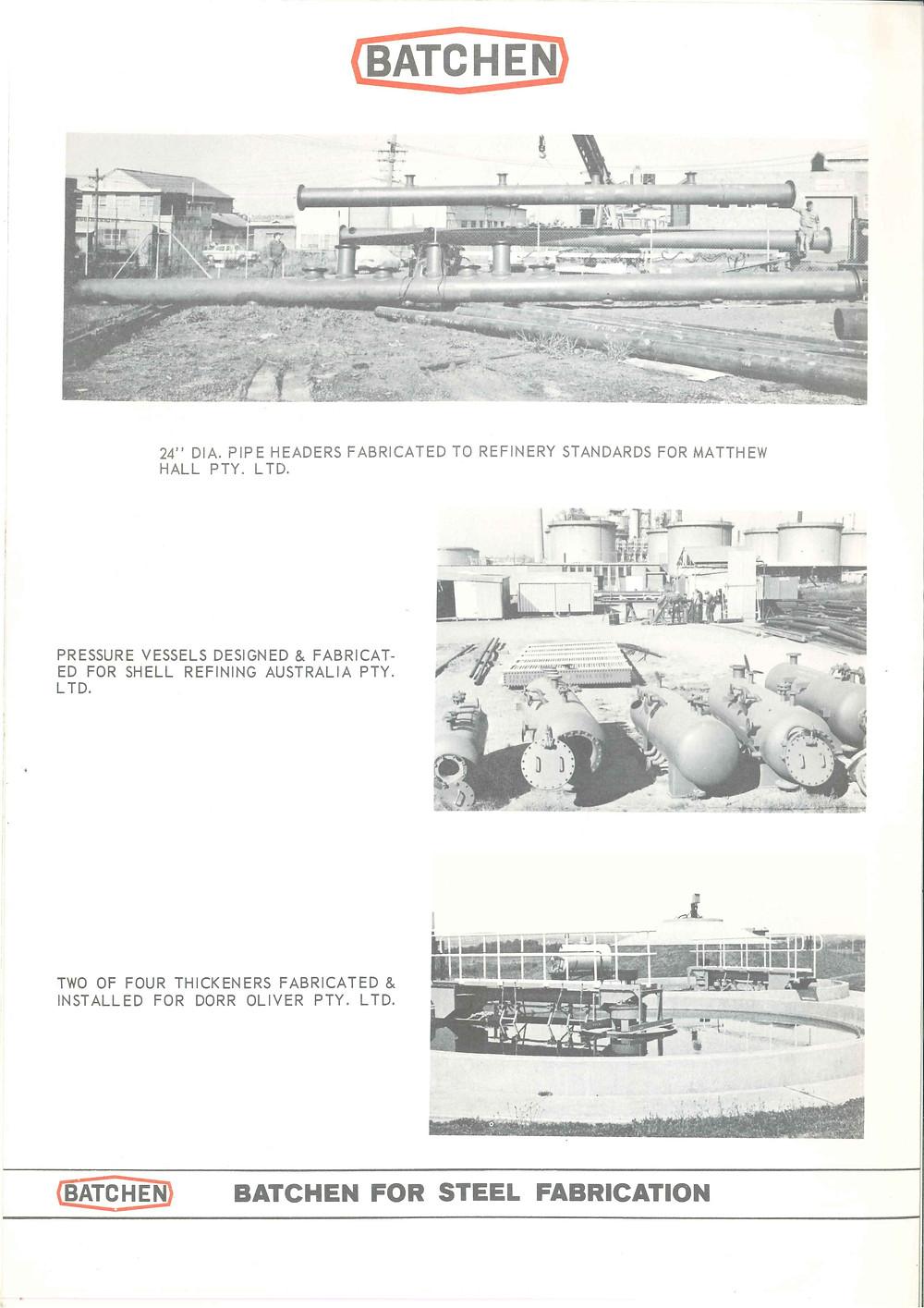 An old brochure, showing some work for Dorr Oliver.