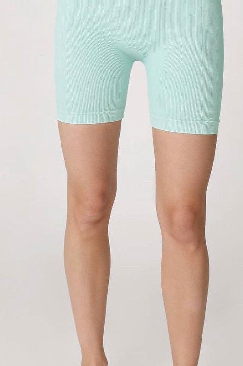 Natasha Ribbed Biker Shorts