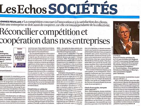 de la coopération entre entreprises dans les Echos !