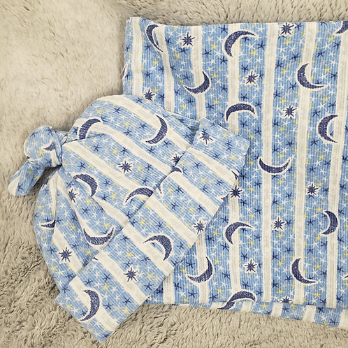 Stars and Moon Swaddle Set