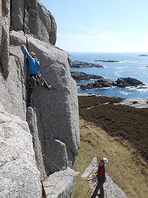Climbing on Erraid
