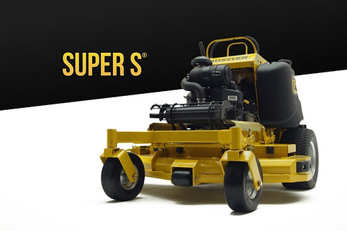 Hustler Super S stand on Zero Turn