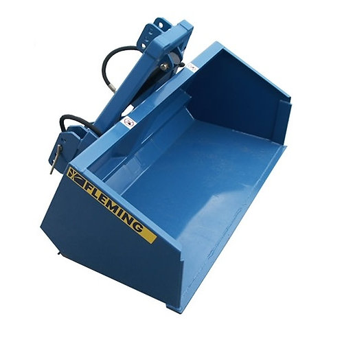 Hydraulic transport box for compact tractor