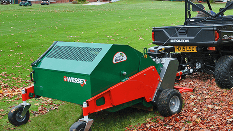 WESSEX MTC-120-E SELF POWERED TRAILED SWEEPER COLLECTOR