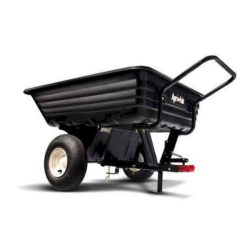 Agri-Fab 8cuft 350lb/160kg Tow/Push Poly Cart Trailer 45-03453