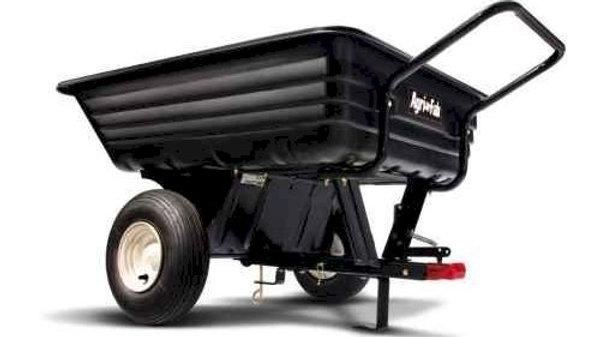 Agri-Fab 8cuft 350lb/160kg Tow/Push Poly Cart Trailer 45-03453