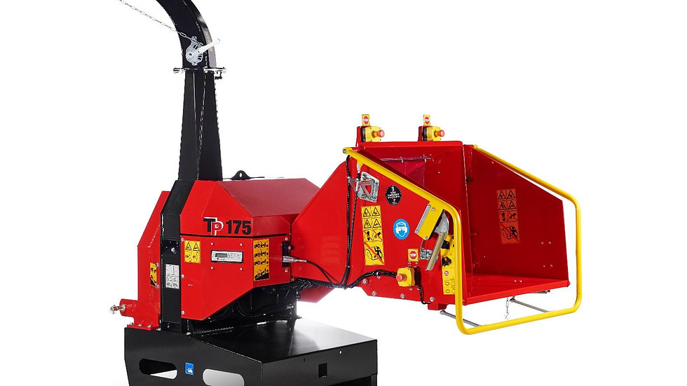 """TP175 PTO Tractor mounted 6"""" Wood Chipper with No Stress"""
