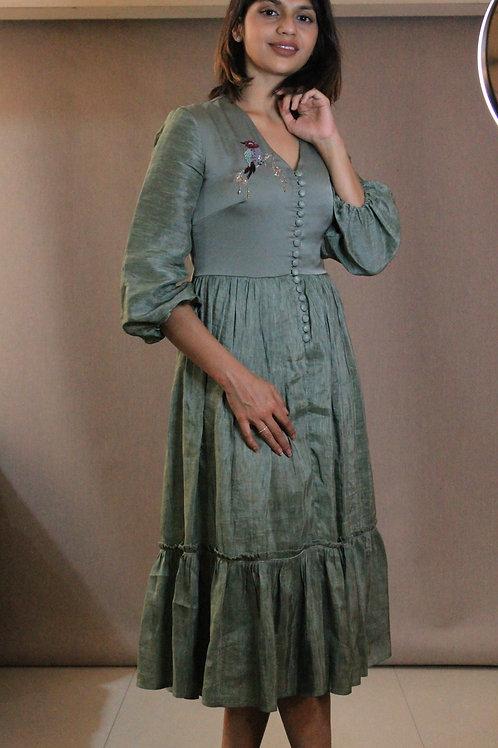 Day Lily Midi Dress by Label Zoe