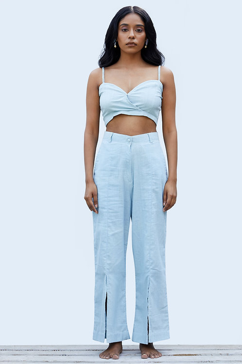 Dune Slit Pants - Powder Blue