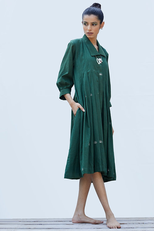 Mangrove Dress - Basil Green