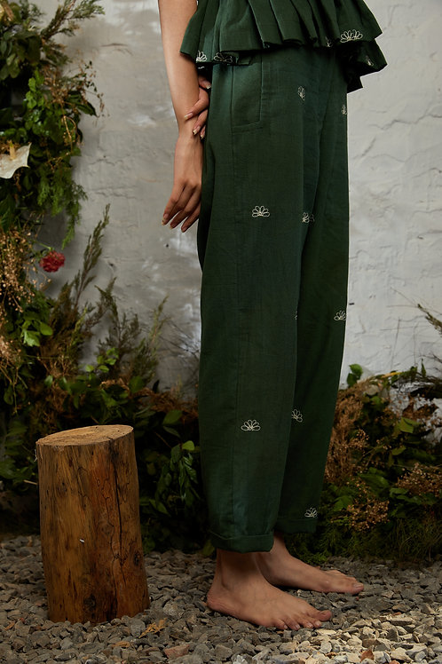 Borneo Pants - Basil Green by Shibui