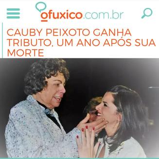 CAUBY PEIXOTO GANHA TRIBUTO, UM ANO APÓS SUA MORTE
