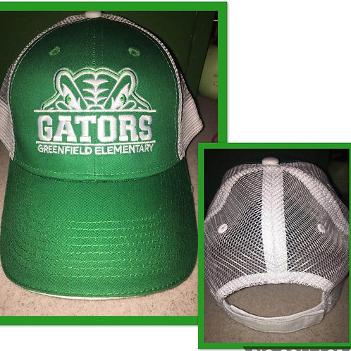 Gator Hat -White Mesh/Adjustable Back