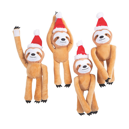 Holiday Gram Long Arm Stuffed Sloths - SOLD OUT