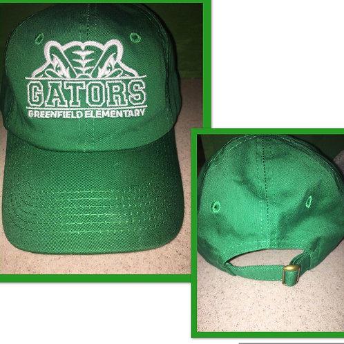 Gator Hat - All Green/Adjustable back