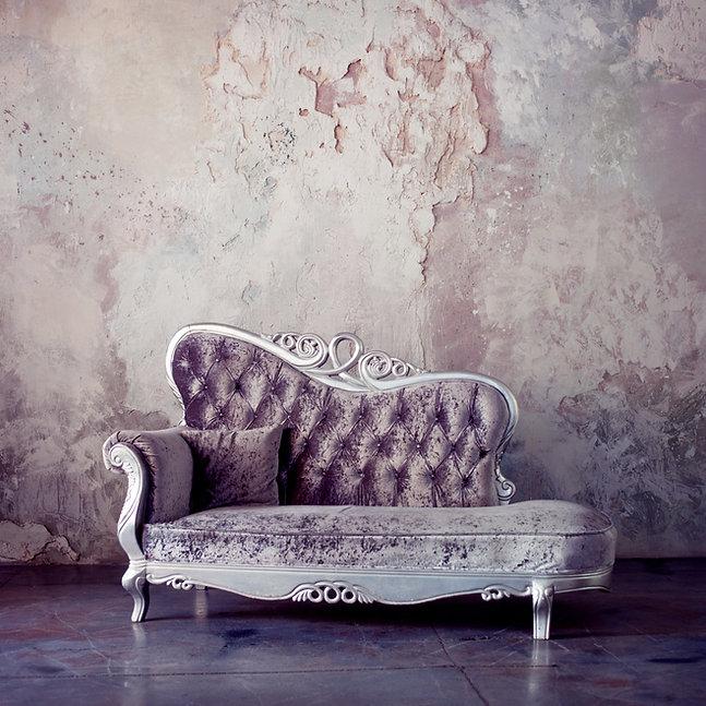 Grunge Styled Interior. Beautiful sofa i