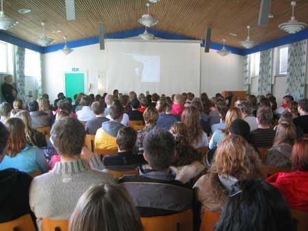 danish2 Students watching the presentati