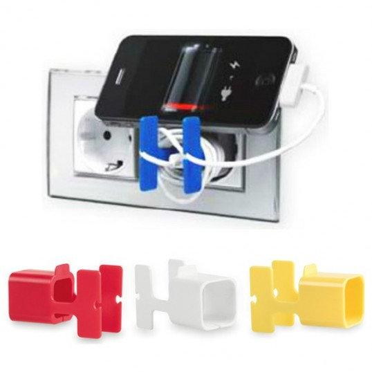 soporte cargador de celular enchufe
