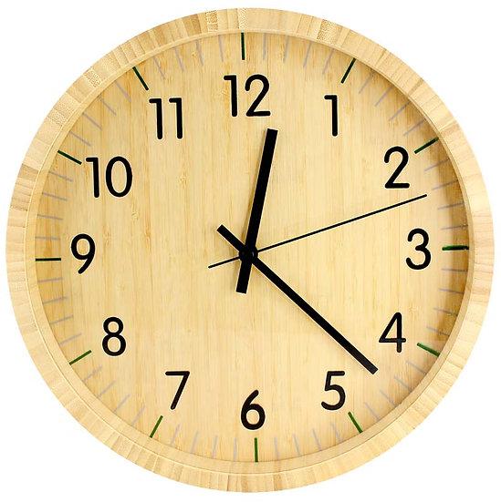 E52 - Reloj de Pared de Bamboo
