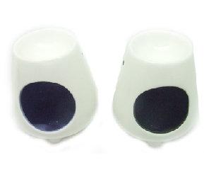 vista frontal difusor de aroma cerámica blanca