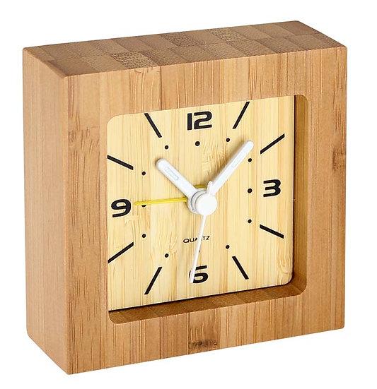 E55 - Reloj Despertador de Bamboo