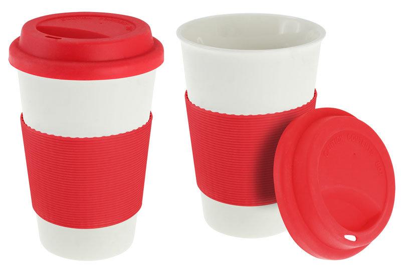 vaso ceramico rojo